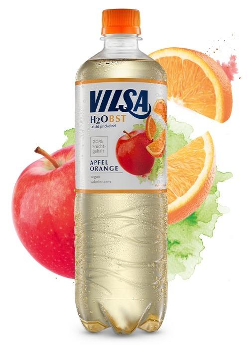 VILSA H2Obst Apfel-Orange Flasche