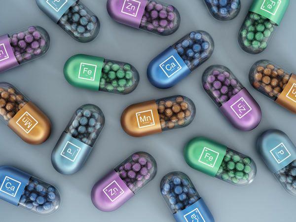 Mineralstoffe in Pillendosen