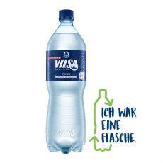 VILSA Mineralwasser classic rPEt mit Icon Ich war eine Flasche