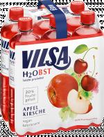 Sixpack VILSA H2Obst Apfel-Kirsche PET 0,75l