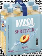 Sixpack mit VILSA Spritzer Peach 0,75l