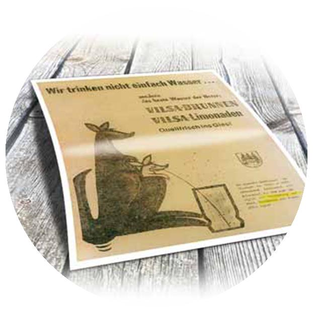 VILSA erste Zeitungsanzeige