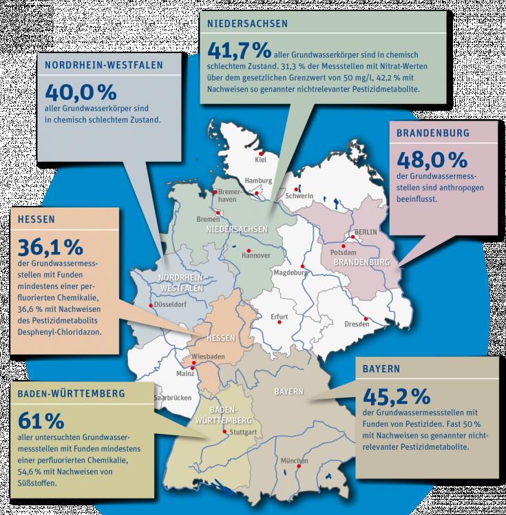 Grafik Der Zustand von Grund und Leitungswasser Übersichtskarte 20.03.2018
