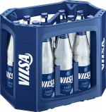 Kasten mit VILSA Mineralwasser classic Glas 0,70l