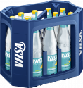 Kasten mit VILSA Mineralwasser Lemon Glas 0,7l