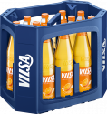 Kasten mit VILSA Limonade Orange Glas 0,7l