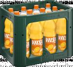 Kasten mit VILSA Limonade Orange PET 1,0l