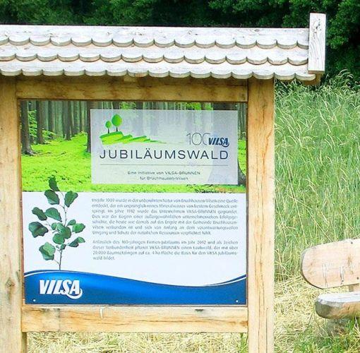 Tafel zum VILSA Jubiläumswald