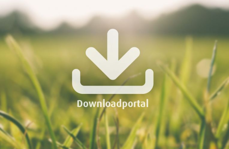 Downloadicon vor einer Aufnahme einer Wiese